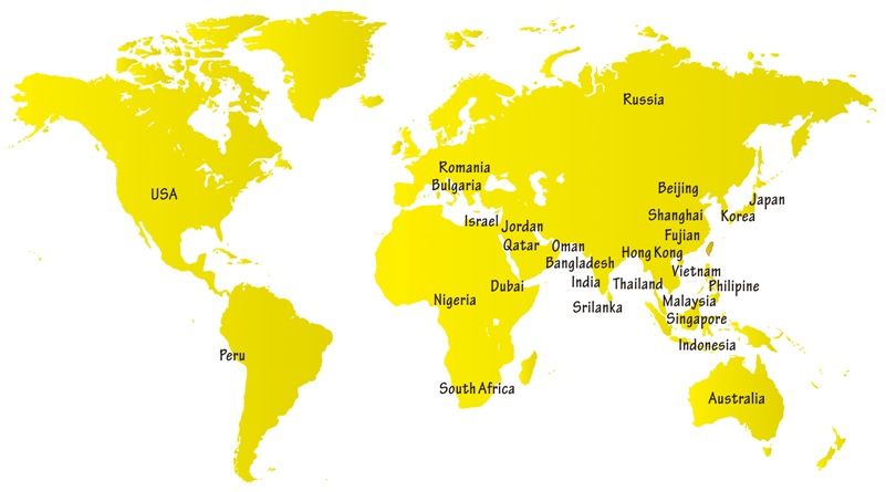Yakos65  World MAP with distributors